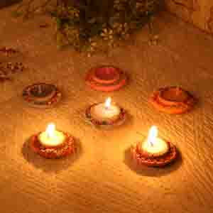 Set of 9 Kalash Candle Diyas