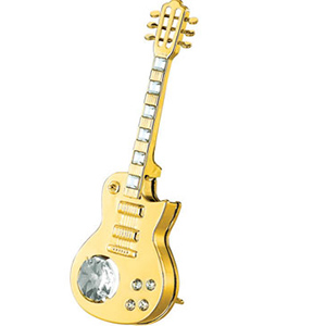 24K Gold Plated Electric Guitar Studded with Swarovski Crystals